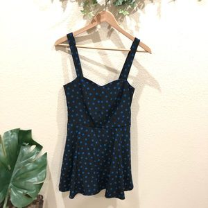 Anthropologie polka dot dress sleeveless Size 4